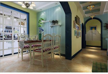 三居旧房改造80后白领今朝装饰老房装修新房装修设计餐厅装修效果图高清图片
