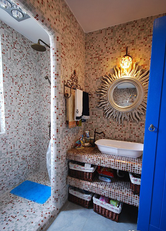 海风格翠林小区三居装修设计80后小资卫生间装修效果图片 装修美图高清图片