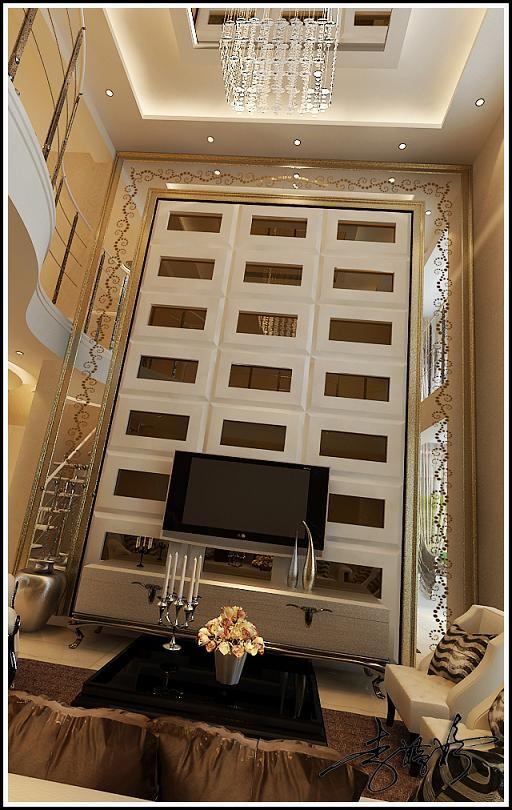 现代简约阁楼客厅装修效果图片 装修美图 新浪装修家居网看图装修