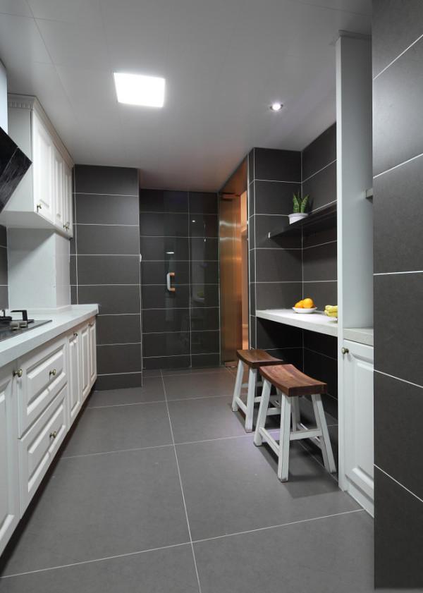 混搭田园90平米简约厨房装修效果图片 装修美图 新浪装修家居网看图