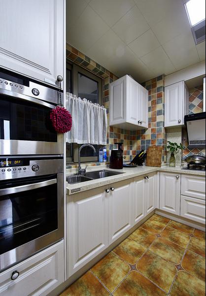 约田园三居混搭中式东苑白领小资厨房装修效果图片 装修美图 新浪装