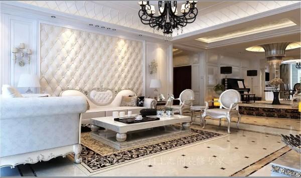 日升装饰西安日升装欧式别墅装修客厅装修效果图片 装修美