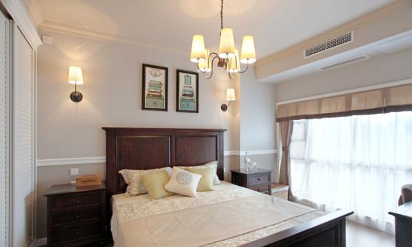 简约欧式田园混搭四居室中式美式78号官邸卧室装修效果图片 装修美