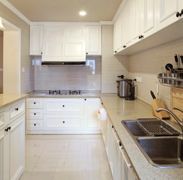 田园混搭四居室中式美式78号官邸厨房装修效果图片 装修美图 新浪