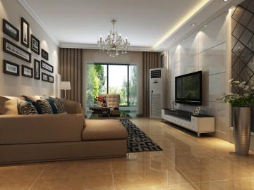 东方鼎盛时代130平三居装修方案