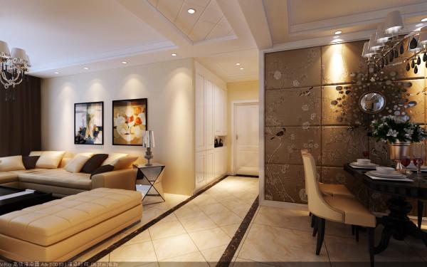 走廊位置的设计效果,入户门位置设置鞋柜