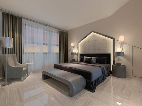 现代复试顶楼复式别墅小资卧室装修效果图片 装修美图 新浪装修家居