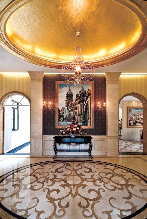 简约欧式后现代别墅小资玄关装修效果图片 装修美图 新浪装修家居网