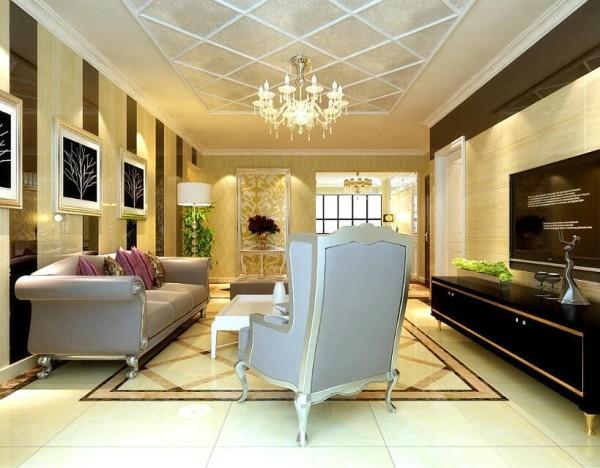 虹装饰混搭风格现代简欧风客厅装修效果图片 装修美图 新浪装修家居