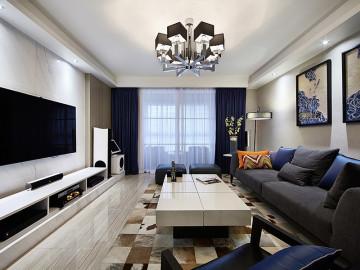 130平现代混搭3居 家更时尚完美