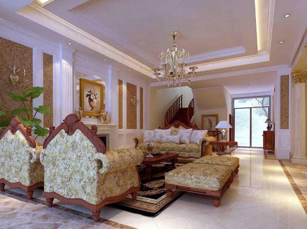 欧式混搭别墅实创装饰上海装修公客厅装修效果图片 装修美