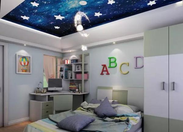 满了奇幻色彩的男孩卧室 装修效果图 ,