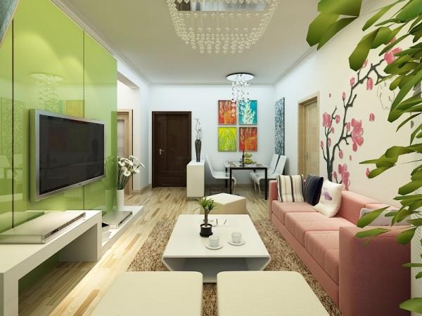 简约田园混搭二居客厅装修效果图片 装修美图 新浪装修家居网看图装修