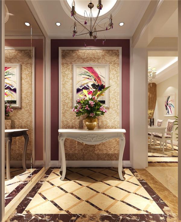 三居公寓简约风格k2百合湾装修效果图装修案例玄关装修效