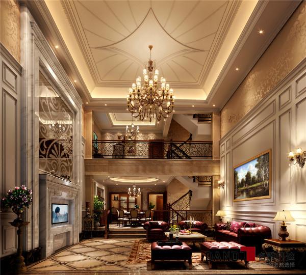 欧式别墅80后英式殖民名雕装饰曦城客厅装修效果图片 装修美图 新