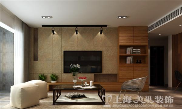 建誉峰三室两厅北欧风格装修效果图 客厅电视背景墙