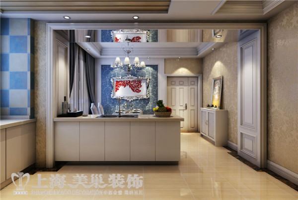 10平三室两厅法式风格装修案例 厨房效果图