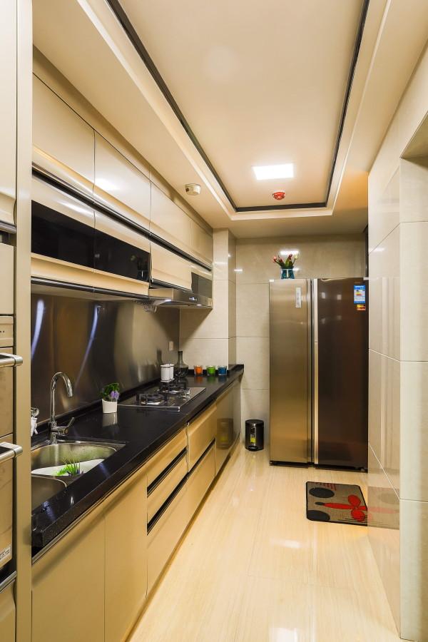 石凌松现代中式空灵简朴唯美舒适三居禅意厨房装修效果图片 装修美图
