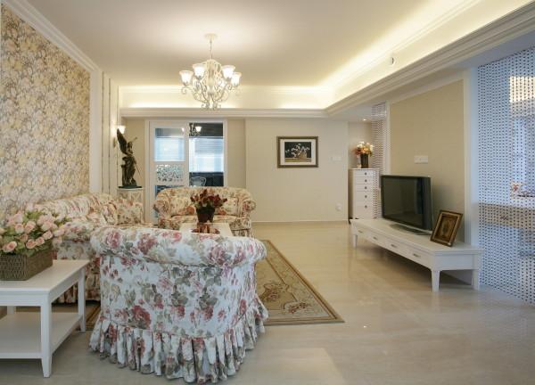 美式田园装修风格复式装修装修设计别墅软装室内设计客厅