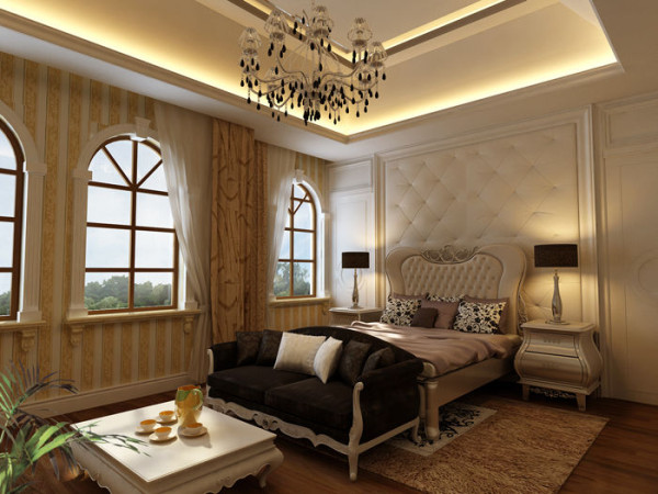欧式 别墅 收纳 空间 奢华 卧室图片来自上海实创装饰赵在