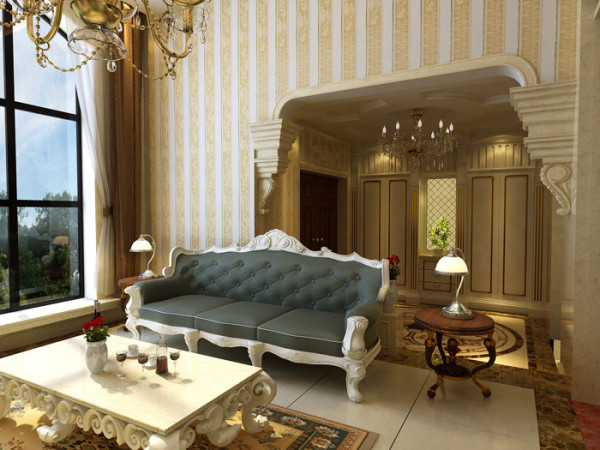 欧式 别墅 收纳 空间 奢华 客厅图片来自上海实创装饰赵在