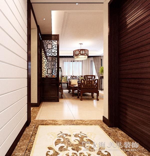 0平方4室2厅新中式风格装修效果图 门厅装修案例