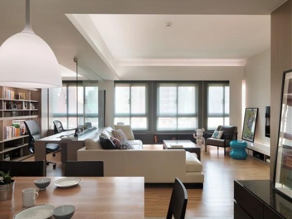 约三居北欧风格老房翻新客厅装修效果图片 装修美图 新浪装修家居网