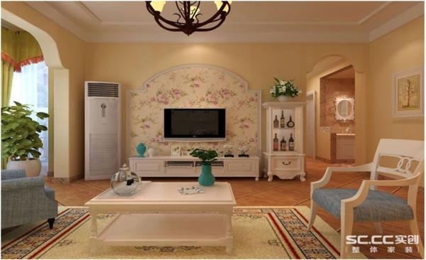 正商新蓝钻乡村田园两居客厅装修效果图片 装修美图 新浪装修家居网