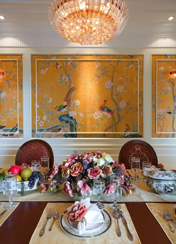 简约欧式城市之光室内装修餐厅装修效果图片 装修美图 新