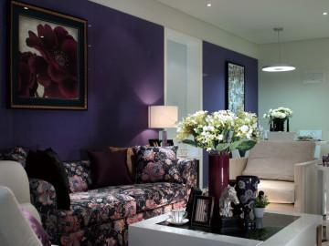 紫色的现代时尚