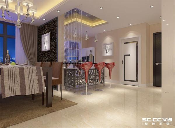 国瑞城现代简约三居整体家装餐厅装修效果图片 装修美图