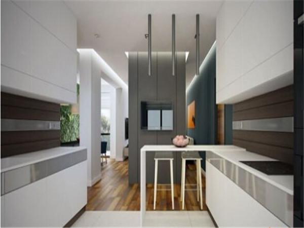 现代极简三口之家白色简约厨房装修效果图片 装修美图 新浪装修家居
