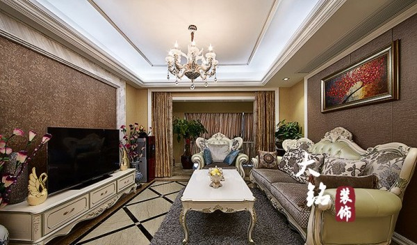 简约欧式白领收纳新房设计精品装修客户效果图客厅
