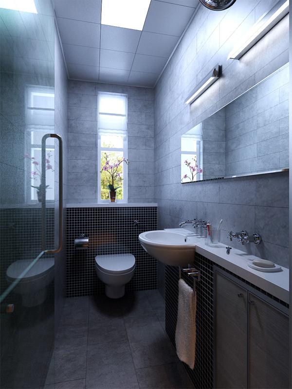 劲松三区60平旧房改造现代报价效果图实景图今朝装饰卫生间装修效果