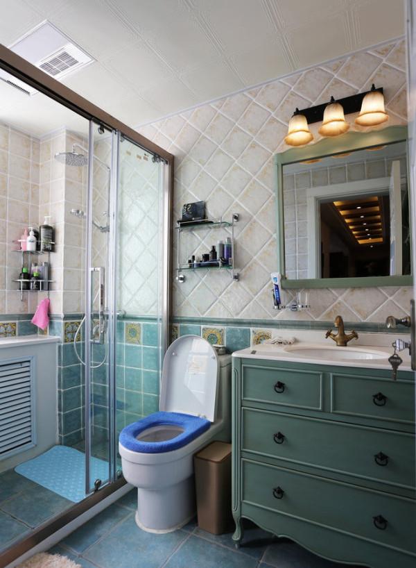 收纳80后旧房改造乡村美式卫生间装修效果图片 装修美图 新浪装修