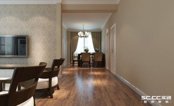 三居室现代简约装修设计案例效果图玄关