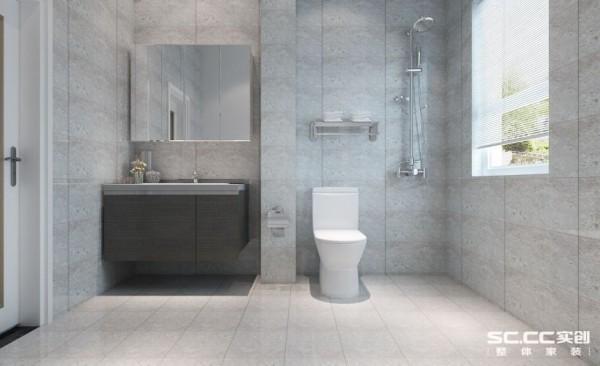 三居室现代简约装修设计案例效果图卫生间