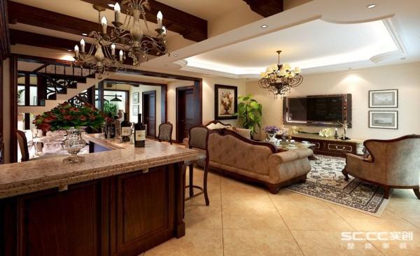 别墅中式美式乡村实创装修案例厨房装修效果图片 装修美图 新浪装修