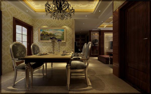 正商红河谷奢华欧式装修设计案例效果图餐厅装修效果图片