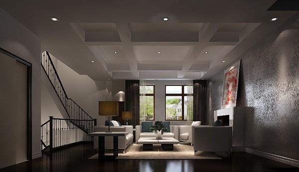 联排别墅五居客厅装修效果图片 装修美图 新浪装修家居网