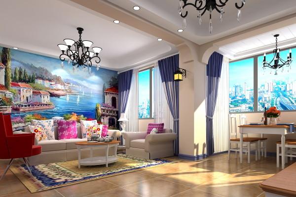 田园实木地板仿古砖墙纸客厅装修效果图片 装修美图 新浪装修家居网