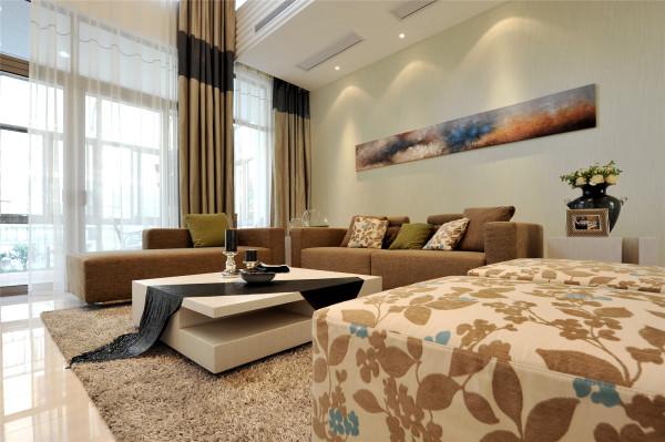 别墅跃层简约现代时尚收纳美家堂装饰旧房改造客厅装修效果图片 装修