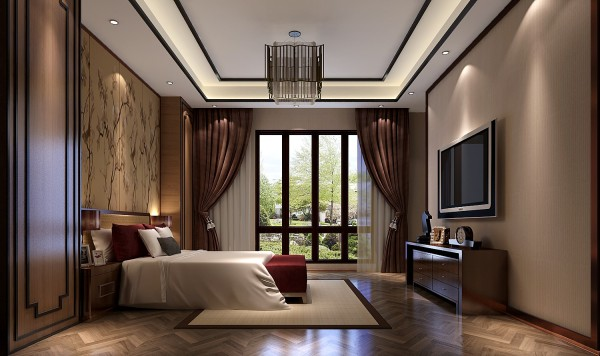 独栋别墅六居卧室装修效果图片 装修美图 新浪装修家居网