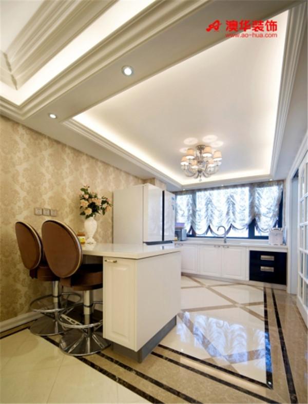 简约欧式三居室新房装修澳华装饰厨房装修效果图片 装修美
