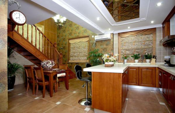 简约混搭美式风格百合花园白领80后楼梯装修效果图片 装修美图 新浪