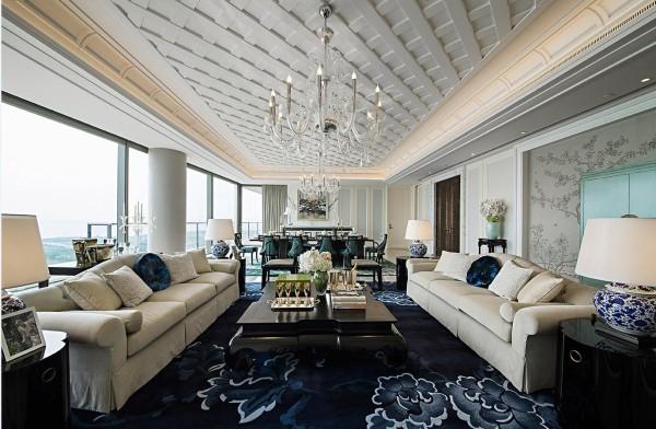 别墅白领简约欧式简欧御汤山熙园客厅装修效果图片 装修美图 新浪装
