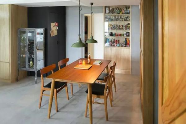 三居白领工业风125平客厅卧室厨房餐厅书房餐厅装修效果图片 装修美
