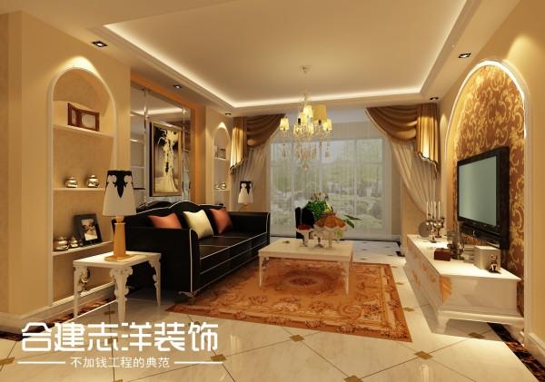 简约欧式二居客厅装修效果图片 装修美图 新浪装修家居网