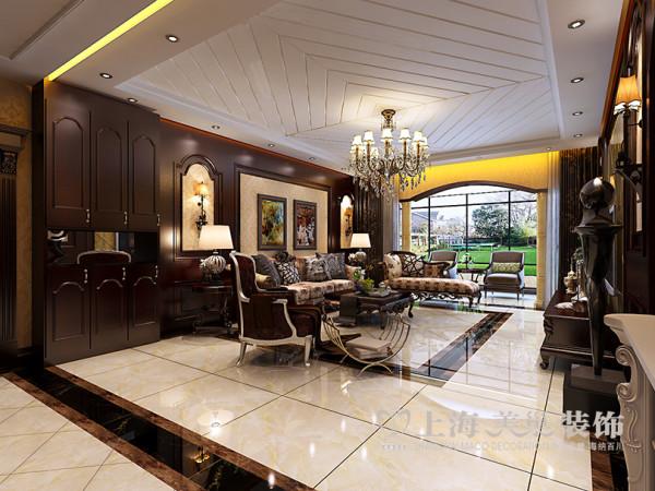 郑州蓝堡湾装修效果图鉴赏160平四室两厅户型案例美式乡村风格设计