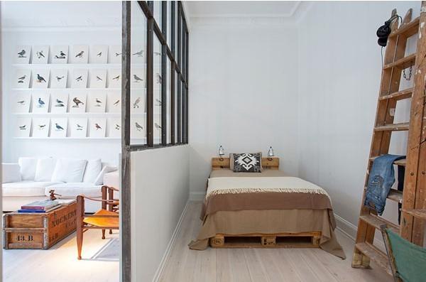 全包工业风格二居深度设计卧室装修效果图片 装修美图 新浪装修家居
